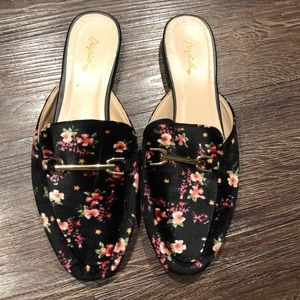 Quipd velvet floral loafers 7
